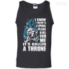 CustomCat Apparel 100% Cotton Tank Top / Black / Small A Throne Tee