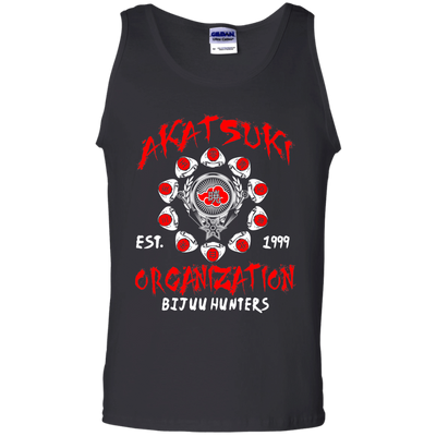CustomCat Apparel 100% Cotton Tank Top / Black / Small Akatsuki Organization Tee