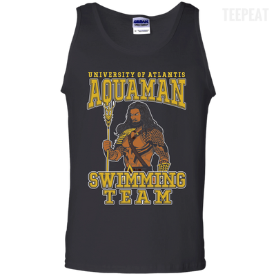 CustomCat Apparel 100% Cotton Tank Top / Black / Small Aquaman Swimming Team Tee