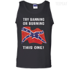 CustomCat Apparel 100% Cotton Tank Top / Black / Small Banning or Burning Tee