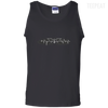 CustomCat Apparel 100% Cotton Tank Top / Black / Small Bat Pulse Tee