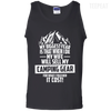 CustomCat Apparel 100% Cotton Tank Top / Black / Small Biggest Fear Camping Gear Tee