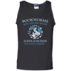 CustomCat Apparel 100% Cotton Tank Top / Black / Small Bookworms Will Rule The World Tee