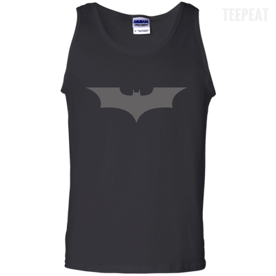 CustomCat Apparel 100% Cotton Tank Top / Black / Small Dark Knight