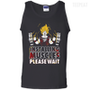 CustomCat Apparel 100% Cotton Tank Top / Black / Small DBZ - Installing Muscles Tee
