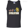 CustomCat Apparel 100% Cotton Tank Top / Black / Small DBZ - Saiyan Evolution Tee