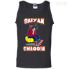 CustomCat Apparel 100% Cotton Tank Top / Black / Small DBZ - Saiyan Swaggin Tee