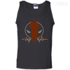 CustomCat Apparel 100% Cotton Tank Top / Black / Small Deadpool Pulse Dark Tee
