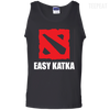 CustomCat Apparel 100% Cotton Tank Top / Black / Small Dota 2 Easy Katka Tee
