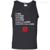 CustomCat Apparel 100% Cotton Tank Top / Black / Small Dota 2 END Tee