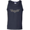 CustomCat Apparel 100% Cotton Tank Top / Navy / Small Dark Knight