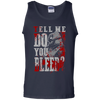 CustomCat Apparel 100% Cotton Tank Top / Navy / Small Do You Bleed Tee