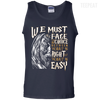 CustomCat Apparel 100% Cotton Tank Top / Navy / Small Dumbledore Tee