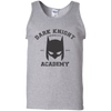 CustomCat Apparel 100% Cotton Tank Top / Sport Grey / Small Dark Knight Academy Tee