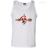 CustomCat Apparel 100% Cotton Tank Top / White / Small Captain Pulse Ligth Tee