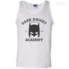 CustomCat Apparel 100% Cotton Tank Top / White / Small Dark Knight Academy Tee