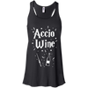 CustomCat Apparel Bella+Canvas Flowy Racerback Tank / Black / X-Small Accio Wine Tee