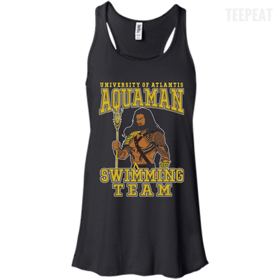 CustomCat Apparel Bella+Canvas Flowy Racerback Tank / Black / X-Small Aquaman Swimming Team Ladies Tee