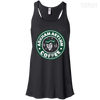 CustomCat Apparel Bella+Canvas Flowy Racerback Tank / Black / X-Small Arkham Asylum Coffee Ladies Tee