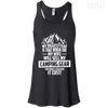 CustomCat Apparel Bella+Canvas Flowy Racerback Tank / Black / X-Small Biggest Fear Camping Gear Ladies Tee
