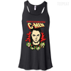 CustomCat Apparel Bella+Canvas Flowy Racerback Tank / Black / X-Small C-Men Ladies Tee
