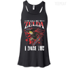 CustomCat Apparel Bella+Canvas Flowy Racerback Tank / Black / X-Small Call Me Zelda I Dare You Ladies Tee