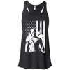 CustomCat Apparel Bella+Canvas Flowy Racerback Tank / Black / X-Small Deadpool Flag Ladies Tee
