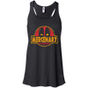 CustomCat Apparel Bella+Canvas Flowy Racerback Tank / Black / X-Small Deadpool Mercenary Ladies Tee