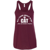 CustomCat Apparel Bella+Canvas Flowy Racerback Tank / Maroon / X-Small All I Care About Is My Cat Women Tee