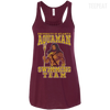CustomCat Apparel Bella+Canvas Flowy Racerback Tank / Maroon / X-Small Aquaman Swimming Team Ladies Tee