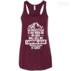 CustomCat Apparel Bella+Canvas Flowy Racerback Tank / Maroon / X-Small Biggest Fear Camping Gear Ladies Tee