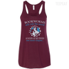 CustomCat Apparel Bella+Canvas Flowy Racerback Tank / Maroon / X-Small Bookworms Will Rule The World Ladies Tee