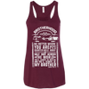 CustomCat Apparel Bella+Canvas Flowy Racerback Tank / Maroon / X-Small Brotherhood Ladies Tee