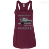 CustomCat Apparel Bella+Canvas Flowy Racerback Tank / Maroon / X-Small Cakehole Ladies Tee