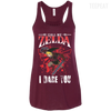 CustomCat Apparel Bella+Canvas Flowy Racerback Tank / Maroon / X-Small Call Me Zelda I Dare You Ladies Tee