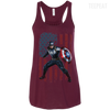 CustomCat Apparel Bella+Canvas Flowy Racerback Tank / Maroon / X-Small Captain America Ladies Tee
