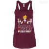 CustomCat Apparel Bella+Canvas Flowy Racerback Tank / Maroon / X-Small DBZ - Installing Muscles Ladies Tee