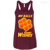 CustomCat Apparel Bella+Canvas Flowy Racerback Tank / Maroon / X-Small Dragon Ball Z Grant Wishes Ladies Tee