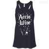 CustomCat Apparel Bella+Canvas Flowy Racerback Tank / Midnight / X-Small Accio Wine Tee