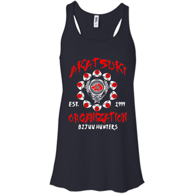 CustomCat Apparel Bella+Canvas Flowy Racerback Tank / Midnight / X-Small Akatsuki Organization Ladies Tee