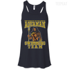 CustomCat Apparel Bella+Canvas Flowy Racerback Tank / Midnight / X-Small Aquaman Swimming Team Ladies Tee