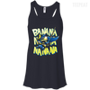 CustomCat Apparel Bella+Canvas Flowy Racerback Tank / Midnight / X-Small Batman Minion Ladies Tee