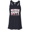 CustomCat Apparel Bella+Canvas Flowy Racerback Tank / Midnight / X-Small Be Nice Ladies Tee