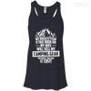 CustomCat Apparel Bella+Canvas Flowy Racerback Tank / Midnight / X-Small Biggest Fear Camping Gear Ladies Tee