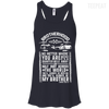 CustomCat Apparel Bella+Canvas Flowy Racerback Tank / Midnight / X-Small Brotherhood Ladies Tee