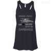 CustomCat Apparel Bella+Canvas Flowy Racerback Tank / Midnight / X-Small Cakehole Ladies Tee