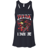 CustomCat Apparel Bella+Canvas Flowy Racerback Tank / Midnight / X-Small Call Me Zelda I Dare You Ladies Tee