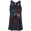 CustomCat Apparel Bella+Canvas Flowy Racerback Tank / Midnight / X-Small Captain America Ladies Tee