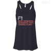 CustomCat Apparel Bella+Canvas Flowy Racerback Tank / Midnight / X-Small Counter Strike Buy AK47 Red Ladies Tee