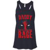 CustomCat Apparel Bella+Canvas Flowy Racerback Tank / Midnight / X-Small Daddy Rage Ladies Tee